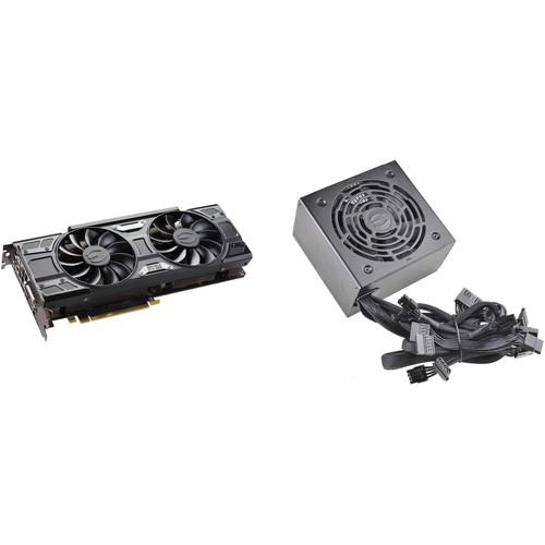 EVGA GeForce GTX 1060 SSC GAMING Graphics Card & 600W 80 Plus Bronze Power Supply Kit