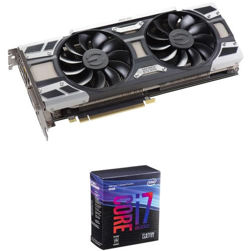 EVGA GeForce GTX 1070 SC GAMING Graphics Card & Intel Core i7-8700K 6-Core Processor Kit