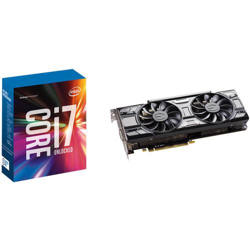 EVGA GeForce GTX 1070 Ti SC GAMING Graphics Card & Intel Core i7-7700K Quad-Core Processor Kit