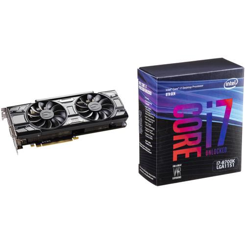 EVGA GeForce GTX 1070 Ti SC GAMING Graphics Card & Intel Core i7-8700K 6-Core Processor Kit