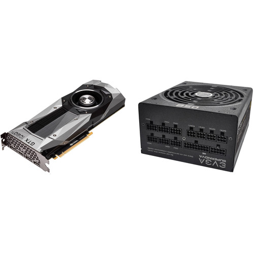 EVGA GeForce GTX 1080 Ti Founders Edition Graphics Card with EVGA SuperNOVA 850G2 850W Power Supply Kit