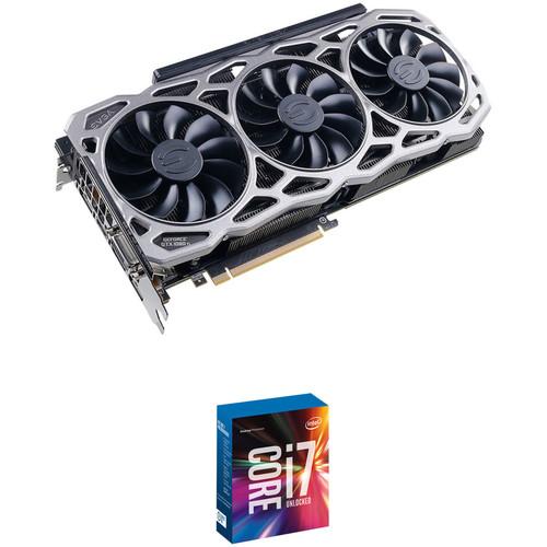 EVGA GeForce GTX 1080 Ti FTW3 GAMING Graphics Card & Intel Core i7-7700K 4.2 GHz Quad-Core LGA 1151 Processor Kit