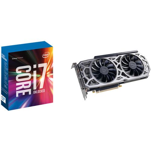 EVGA GeForce GTX 1080 Ti SC2 GAMING Graphics Card & Intel Core i7-7700K 4.2 GHz Quad-Core LGA 1151 Processor Kit