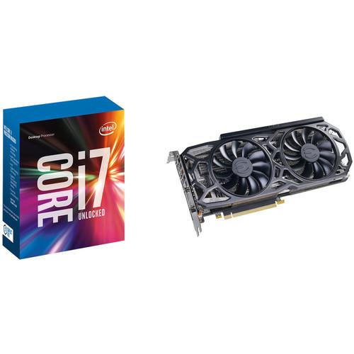 EVGA GeForce GTX 1080 Ti SC GAMING Black Edition Graphics Card & Intel Core i7-7700K 4.2 GHz Quad-Core LGA 1151 Processor Kit
