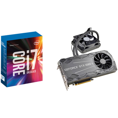 EVGA GeForce GTX 1080 Ti FTW3 HYBRID GAMING Graphics Card & Intel Core i7-7700K Quad-Core Processor Kit