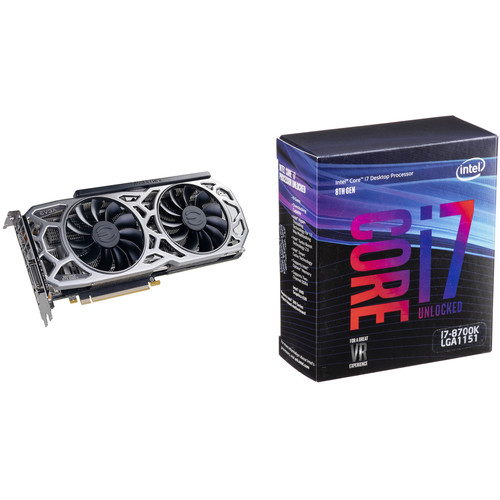 EVGA GeForce GTX 1080 Ti SC2 GAMING Graphics Card & Intel Core i7-8700K 6-Core Processor Kit