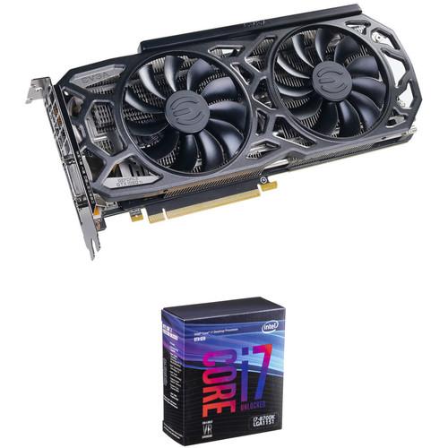 EVGA GeForce GTX 1080 Ti SC GAMING Black Edition Graphics Card & Intel Core i7-8700K 6-Core Processor Kit