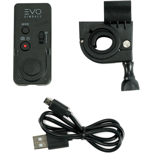 EVO Gimbals WR-Gen2 Wireless Remote with Micro USB Cable and Mounting Clamp