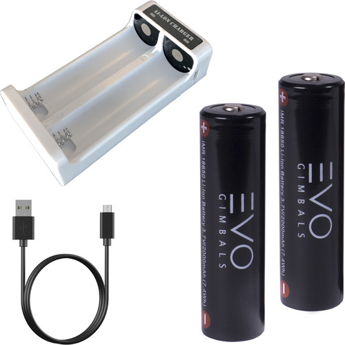 EVO Gimbals IMR 18650MP Li-Ion Batteries for RAGE3, Rage Gen 1, and GP-PRO (2-Pack)
