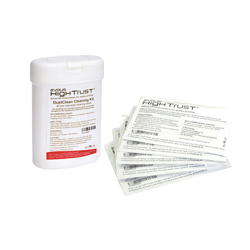 Evolis DustClean Cleaning Kit for Cleaning Rollers (60 Wipes)