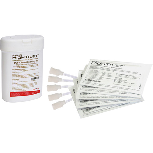 Evolis UltraClean Cleaning Kit for Complete Printer Cleaning (5 Cards, 5 Swabs, 60 Wipes)