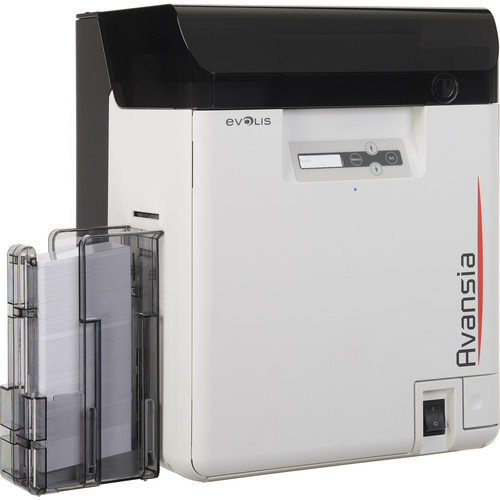 Evolis Avansia Duplex Retransfer Card Printer with Dual High/Low-Coercivity 3-Track Magnetic Stripe Encoder & Evolis Elyctis Dual Smart Card and Contactless Encoder
