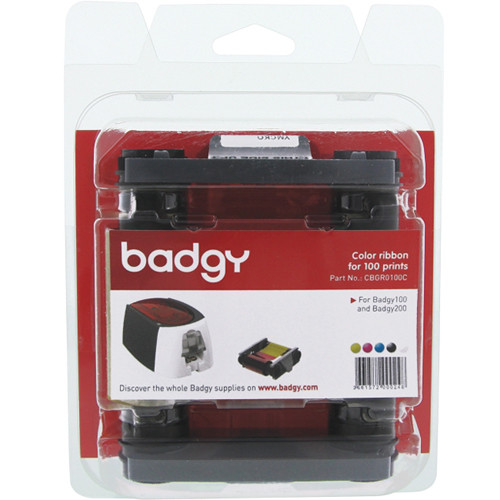Evolis YMCKO Color Ribbon for Badgy100 & Badgy200 Card Printers