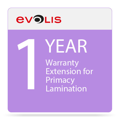Evolis 1-Year Warranty Extension for Primacy Lamination