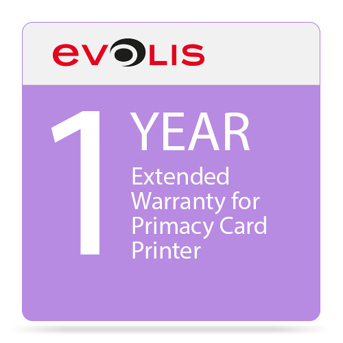 Evolis 1-Year Extended Warranty for Primacy Card Printer
