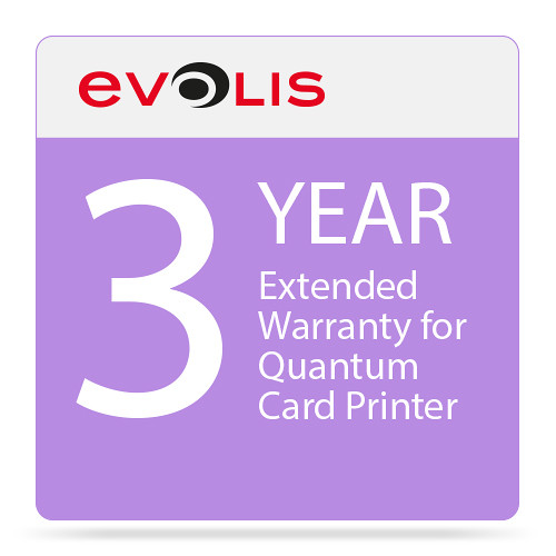 Evolis 3-Year Extended Warranty for Quantum2 Card Printer