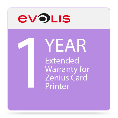 Evolis 1-Year Extended Warranty for Zenius Card Printer