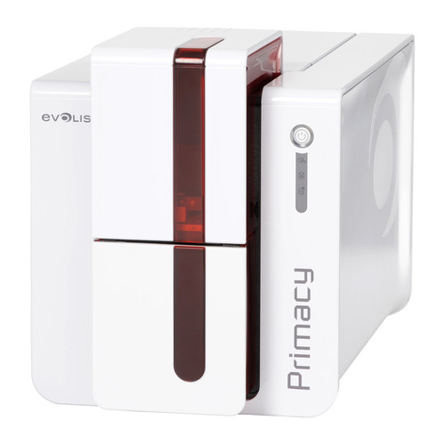 Evolis Primacy Expert Dual-Sided ID Card Printer with GEMPC USB-TR Smart Card Encoding (Fire Red)