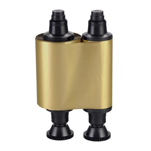 Evolis Standard Monochrome Ribbon for Pebble, Dualys, Quantum & Securion Card Printers (up to 1000 Prints, Metallic Gold)