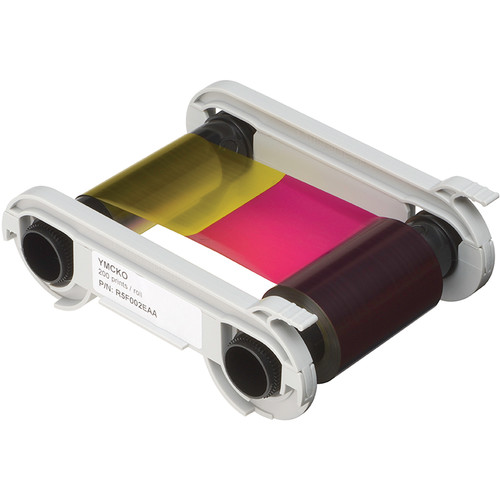 Evolis YMCKO 5-Panel Color Ribbon Cassette for Zenius Printers