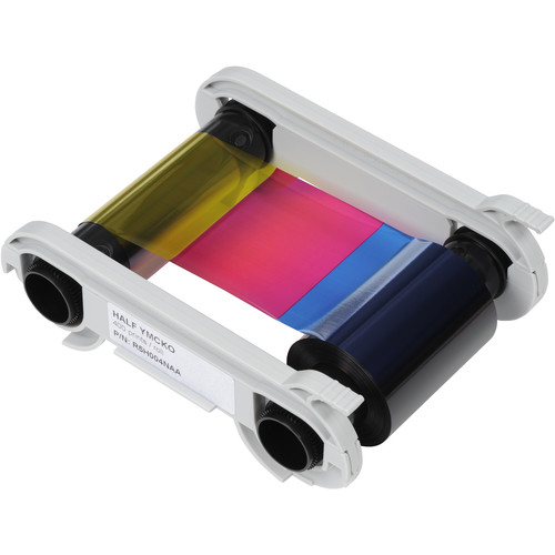Evolis Half-Panel 1/2 YMCKO Color Ribbon (400 Prints/Roll)