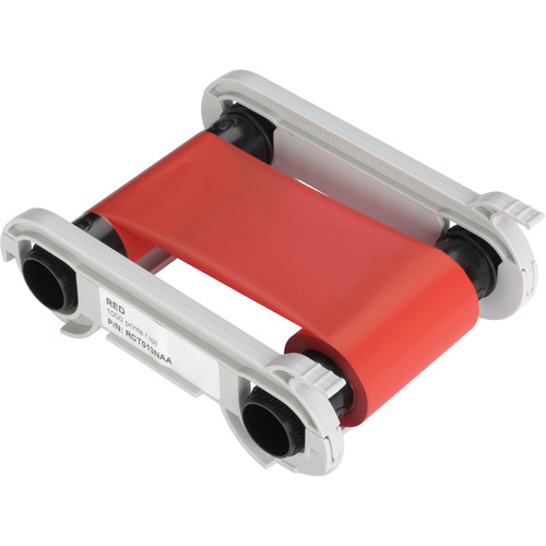 Evolis Red Monochrome Ribbon (1000 Prints/Roll)