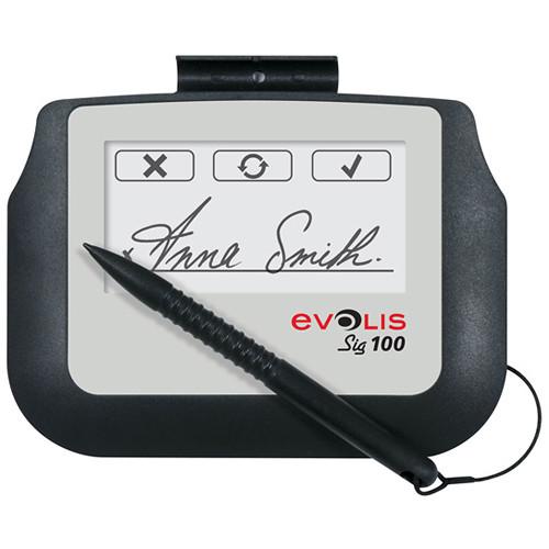 Evolis Sig100 Signature Capture Pad Bundle with Signosign/2 Software CD and Workstation License