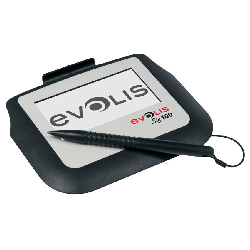 "Evolis Sig100 4"" Monochrome Interactive LCD Signature Pad with Backlight & USB"