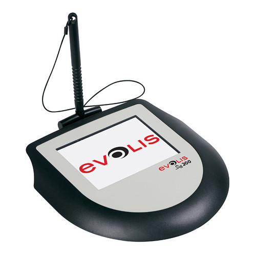 Evolis Sig200 Signature Capture Pad Bundle with Signosign2 Software CD and Workstation License