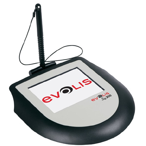 """Evolis Sig200 5"""" Color Interactive LCD Signature Pad with Backlight & USB"""