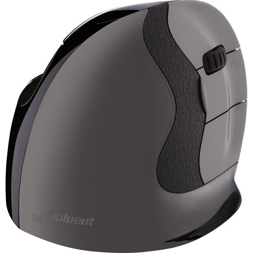 Evoluent VerticalMouse D Wireless Mouse (Small, Dark Silver)