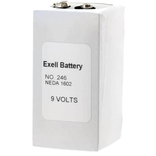 Exell Battery 246 9V Alkaline Battery (500 mAh)