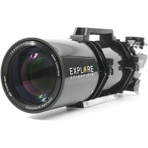 Explore Scientific ED115mm f/5.5 Air-Spaced APO Triplet CF Refractor (OTA Only)