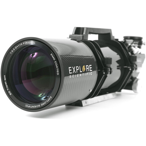 Explore Scientific ED115mm f/5.5 Air-Spaced APO Triplet CF Refractor (OTA Only, Starlight FeatherTouch Focuser)