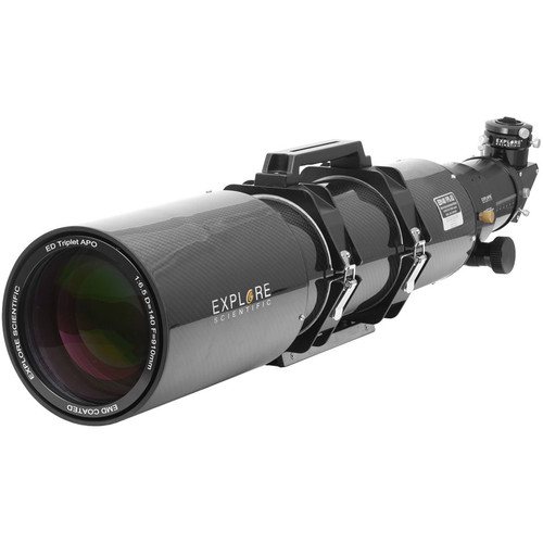 Explore Scientific ED140mm f/6.5 Air-Spaced APO Triplet CF Refractor (OTA Only, Starlight FeatherTouch Focuser)