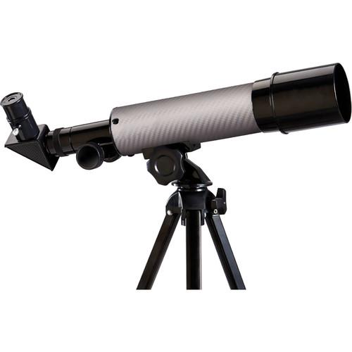 ExploreOne CF350 50mm f/7 Carbon Fiber AZ Refractor Telescope (Silver)