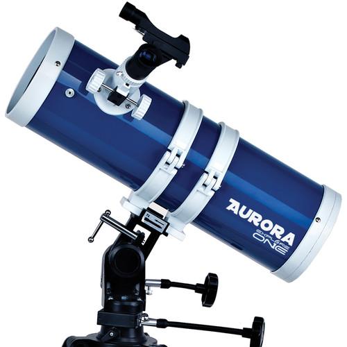 ExploreOne Aurora 114mm f/4 AZ Telescope (Blue/White)