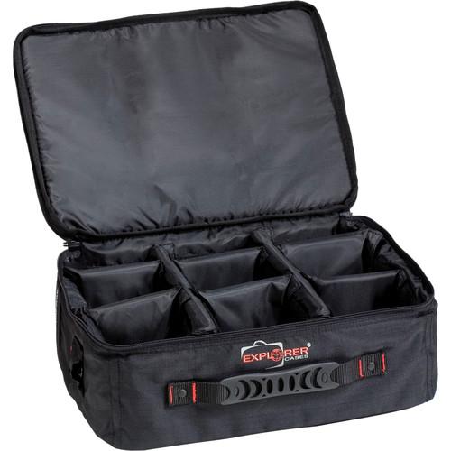Explorer Cases BAG-E Padded Bag with Adjustable Dividers (Black)