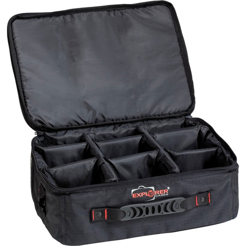 Explorer Cases BAG-E Padded Bag with Adjustable Dividers (Black)