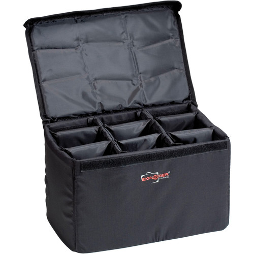 Explorer Cases DIV-H Padded Container with Adjustable Dividers (Black)