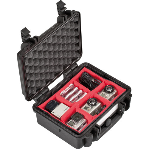 Explorer Cases Small Hard Case 2712 with Divider Kit and Lid Foam (Black)