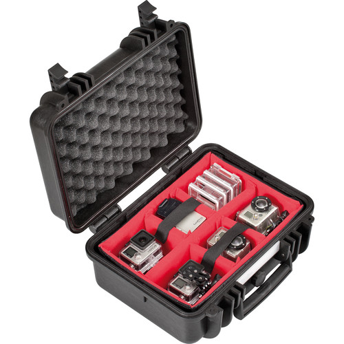 Explorer Cases Small Hard Case 3317 with Divider Kit and Lid Foam (Black)