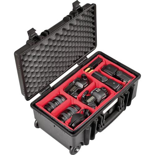 Explorer Cases Medium Hard Case 5122 with Divider Kit & Wheels (Black)