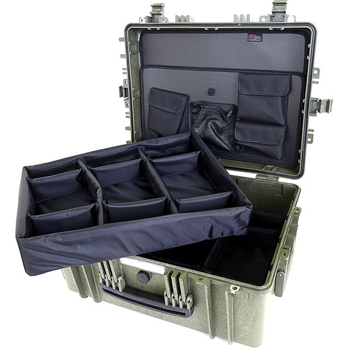 Explorer Cases 5325 Case with DIVIDER-V and Panel-53 (Olive)