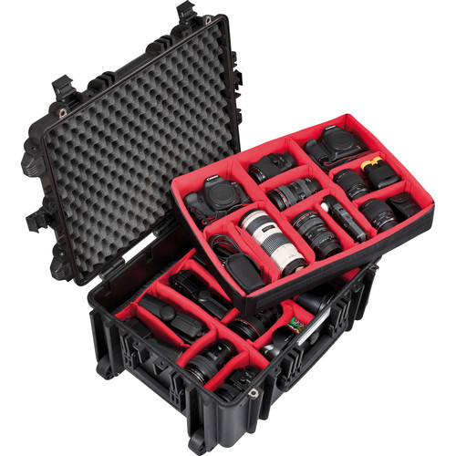 Explorer Cases Medium Hard Case 5326 & Wheels with Divider Kit (Black)