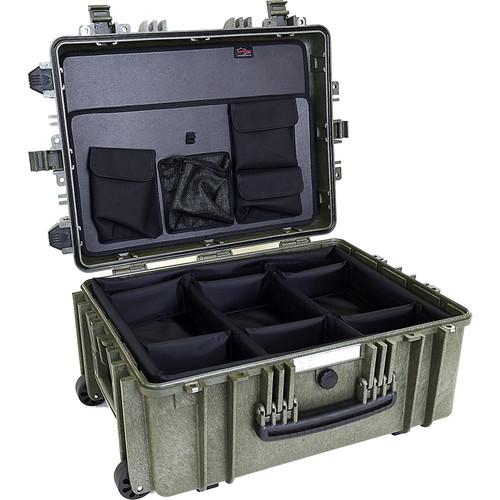 Explorer Cases 5326 Case with DIVIDER-V and Panel-53 (Olive)