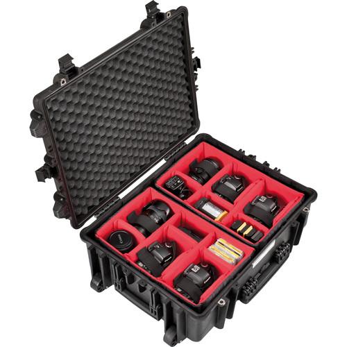 Explorer Cases Large Hard Case 5823 BPH with Divider Kit & Wheels (Black)
