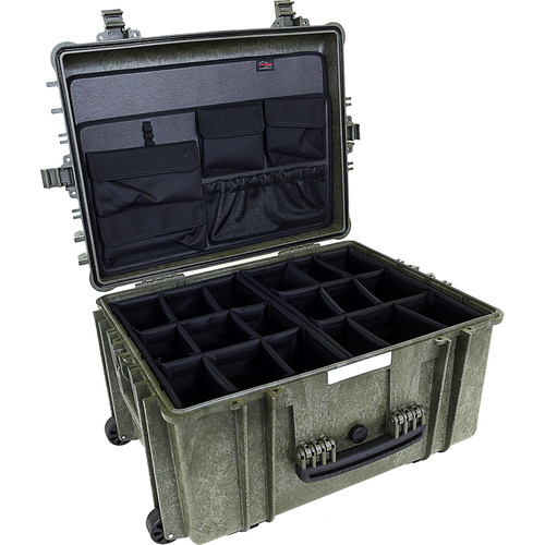 Explorer Cases 5833 Case with 2 x BAG-G and 2 x DIV-I with PANEL-58 (Olive)