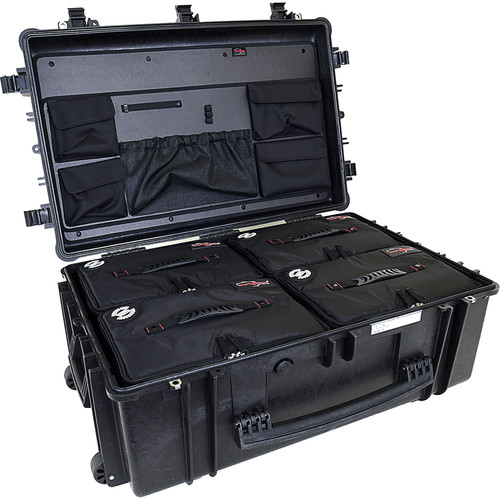 Explorer Cases 7630 Case with 4 BAG-Ls and Panel-76 (Black)