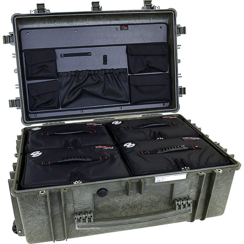 Explorer Cases 7630 Case with 4 BAG-Ls and Panel-76 (Olive)